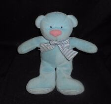 "10"" VINTAGE RUSS BERRIE BLUE THERMAL TEDDY BEAR RATTLE STUFFED ANIMAL PLUSH TOY"