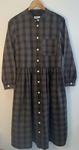 Toast Chalkboard Cotton Shirtdress Like New Black/Biscuit Size 10