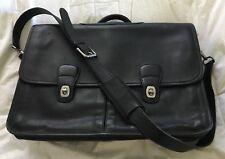 COACH Glove Black Leather PRESCOTT Messenger Briefbag Case Courier-0532-MINT