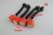 CERAMIC HI HEAT HEADLIGHT HEADLAMP H4 LIGHT BULB WIRING HARNESS SOCKET PLUG SET
