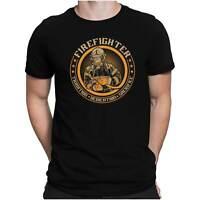 Fire Fighter Badge Herren Fun T-Shirt - Feuerwehr Feuerwehrmann 112 - PAPAYANA