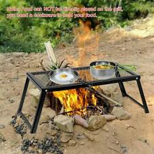 New Foldable Outdoor Heavy Duty Over Fire Camping BBQ Grill For Picnic E5Z9