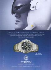 "Citizen Eco-Drive ""What Battery"" Watch 2003 Magazine Advert #893"