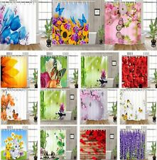 Floral Decor Waterproof Fabric Various Pattern & 12 Hook Bathroom Shower Curtain