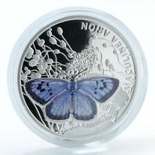 Niue 1 dollar butterflie Maculinea Arion silver color coin 2011