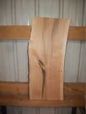 "2 PC RUSTIC CHERRY KILN DRIED LUMBER WOOD LOT 186W 7/8"" THICK  NATURAL EDGE"