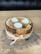 Rustic Wooden Branch Tree Tea Light Candle Holder Home Decor Gift Christmas