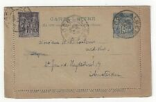1895 Alger(ia) Bourse Uprated 15c Letter Card to Amsterdam Peace & Commerce