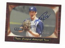 2004 Bowman Heritage Sign of Greatness SGA-MR Mark Rogers On Card Auto Brewers