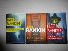 Ian Rankin Lot 3 HC 1st Ed NEW!  Exit Music,Standing In Another Mans Grave,SaiM8