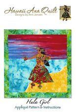 HULA Dancer Applique Quilt Pattern Hawaiian Beach Ocean Sand Luau Lei Dancing