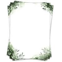 50 Blatt Briefpapier Set DIN A4 Briefbögen Motivpapier Bastelpapier grün Blätter