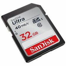 SanDisk Ultra 32gb 40MB/s SD Card SDHC Memory Card Class 10 32 GB (REFURBISHED)