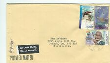 BN 14 cover with stamps from Jakarta Indonesia to Canada topical shells
