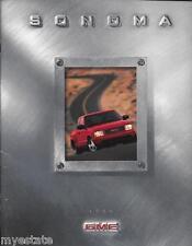 1999 99 GMC Sonoma original sales  Brochure MINT