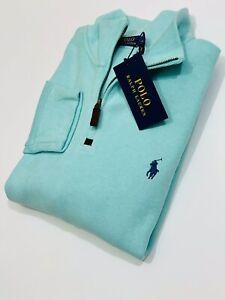 Ralph Lauren Men's Estate-Rib Quarter-Zip Pullover (Turquoise) RRP £125