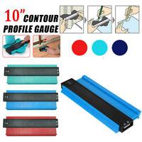 250mm/10'' Plastic Irregular Shaper Profile Ruler Gauge Duplicator Contour Scale