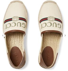 Gucci Alejandro Vintage LOGO SLIP ON ESPADRILLE Chaussures Plates Mocassins 40