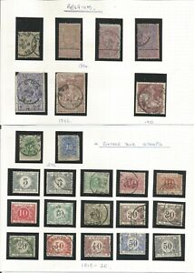 Belgium  1870 Postage Due  1894 World Exposition  1896 1910 1919-1920 1952 etc.