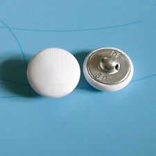 12 Large Satin Fabric Cover Tuxedo Wedding Gown Handmake Buttons White 19mm G185