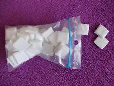 Mosaïque pâte de verre pour loisirs créatifs sachet de 50 pièces blanches