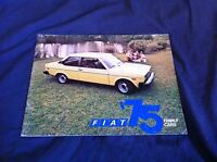 1975 Fiat Sedans and Wagons USA Market Color Brochure Catalog Prospekt