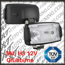 2 x Kunstoff Halogen Fernscheinwerfer Fernlicht 235 x 132 mm 12V oder 24V