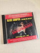 Alice Cooper CD Unauthorised No More Mr Nice Guy Live In USA 1978-1982