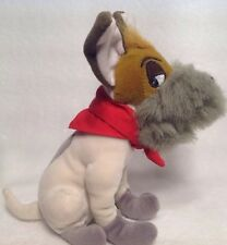 "VINTAGE DISNEY DODGER DOG PLUSH 7"" OLIVER AND COMPANY Disney Store BEANIE"