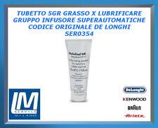 TUBETTO 5GR GRASSO X LUBRIFICARE GRUPPO INFUSORE SUPER AUTOMATICHE DE LONGHI