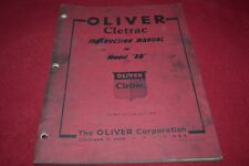 Oliver Cletrac BD Crawler Tractor Operator's Manual PBPA