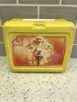Miss Piggy Lunchbox 1980 Vintage Jim Henson Yellow Plastic Motorcycle Muppets