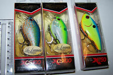 Fishing lures lot of 3, XCALIBUR  XCS100 & XR50  CRANKBAITS  Bass, Trout, Bream.