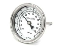 """CONCORD 3"""" 304 Stainless Steel Thermometer Glass Dial Brew Kettle Pot Mash Tun"""