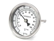 "CONCORD 3"" 304 Stainless Steel Thermometer Glass Dial Brew Kettle Pot Mash Tun"