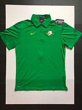 Nike Oregon Ducks Elite Coach Polo Shirt Dri-Fit Apple Green Mens Size M