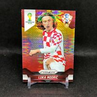 2014 Luka Modric Panini World Cup Prizm #118 Yellow Red Pulsar Soccer Card