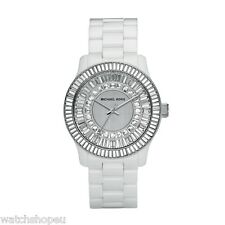 NEW MICHAEL KORS MK5361 WHITE CERAMIC RUNWAY WATCH - 2 YEAR WARRANTY