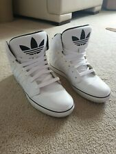 Adidas Rare Team GB Leather High Top Trainers White UK10 EU44.5