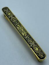 Vintage Gold Tone Art Deco Design Mens Tie Clip