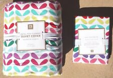 POTTERY BARN TEEN ~ PETAL POP FLANNEL DUVET  FULL / QUEEN WITH 1 STANDARD SHAM