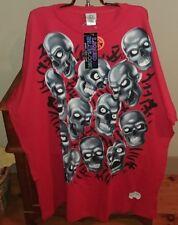2001 VTG Liquid Blue Skull Pile T-shirt 3 6 Mafia Supreme Plus T-shirt New 4XL