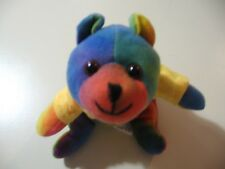 "8"" plush bean bag Tidewater Tides Teddy Bear, good condition"