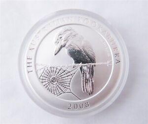 2008 Australia Kookaburra 1oz .999 Silver Dollar (e)