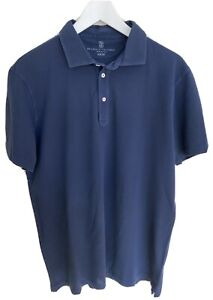 Brunello Cucinelli Slim Fit Polo Shirt blau Gr. XXL