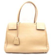 Prada Hand Bag  Beiges Leather 1508436