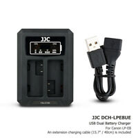 USB Dual Battery Charger fits LP-E8 fr Canon EOS Rebel T5i T4i T3i T2i 700D 650D