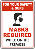 A4 LAMINATED WARNING SIGN FOR BUSINESSES PUBLIC SAFETY FACE DANGER