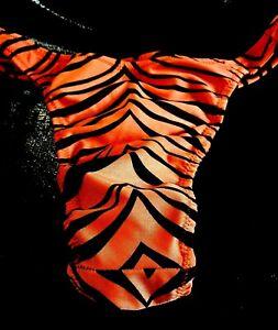 Mens Swimsuit Tiger Rio or 1/4 back thong S M L or XL Handmade Custom swimwear