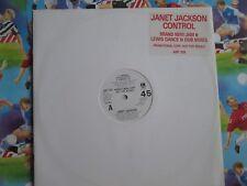 "Janet Jackson – Control A&M Records – AMY 359 UK Vinyl, 12"" Single Promo"